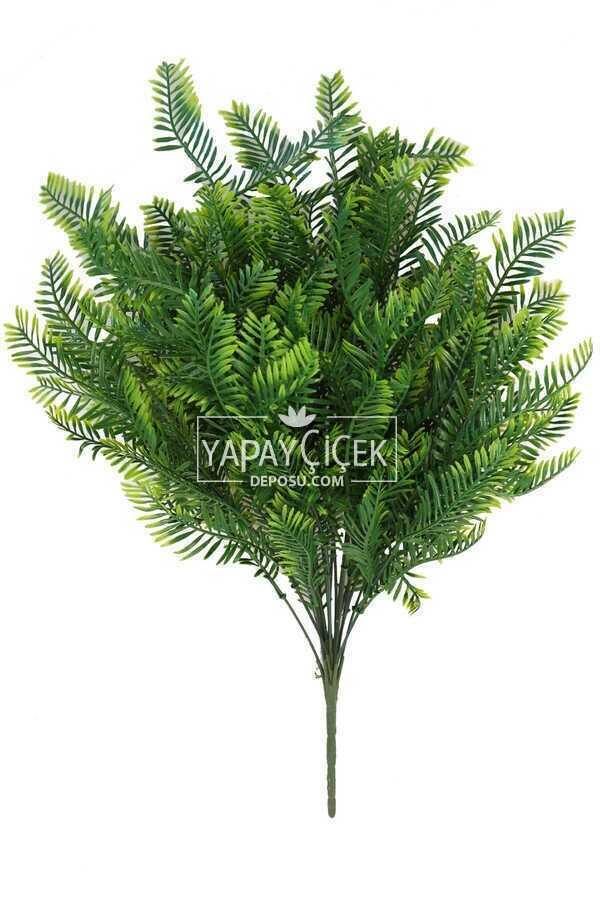 18 Dallı Dev Lüx Kuşkonmaz Demeti 52 cm Yeşil-Sarı