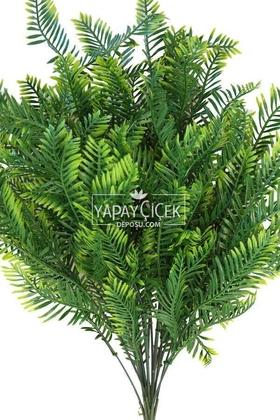 18 Dallı Dev Lüx Kuşkonmaz Demeti 52 cm Yeşil-Sarı - Thumbnail