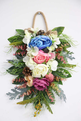 Yapay Çiçek Deposu - Yapay Lüx Duvar Süsü 45 cm(Model 2)