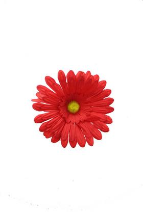 Yapay Çiçek Deposu - Yapay Tek Kafa Gerbera Kırmızı 12 cm