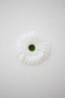 Yapay Çiçek Deposu - Yapay Tek Kafa Ucuz Gerbera Beyaz 10 cm