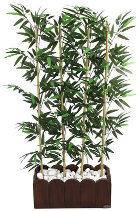 Yapay Çiçek Deposu - Yapay Bambu Seperatör Kahverengi Saksılı (20x50x130cm)
