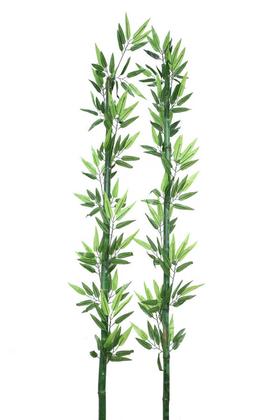 Yapay Çiçek Deposu - Yapay Yapraklı Yeşil Bambu 165 cm