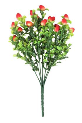 Yapay Çiçek Deposu - Yapay Yeşillik Ara Dal Çilek Demeti 35 cm