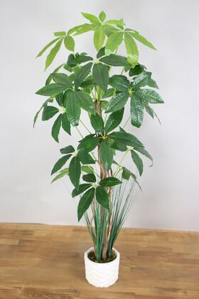 Yapay Çiçek Deposu - Yapay Yıldız Ağacı 105 cm Beton Saksılı