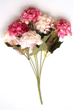 Yapay Çiçek Deposu - Yapay 6 Dal Kasımpatı Demeti Pembe-Fuşya