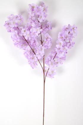 Yapay Çiçek Deposu - Yapay Kaliteli Kabarık Bahar Dalı 95 cm Lila
