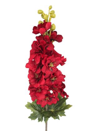 Yapay Çiçek Deposu - Yapma Çiçek Kaliteli Dal Şebboy 87 cm Kırmızı
