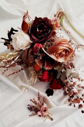 Exclusive Serisi Candi Gelin Çiçeği 2li Set - Thumbnail