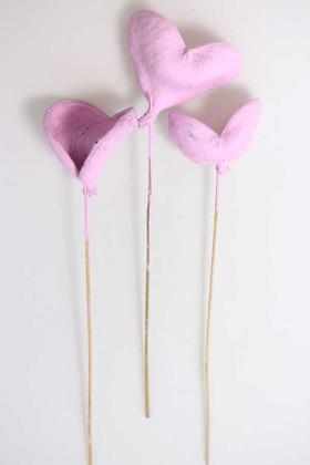 Yapay Çiçek Deposu - 3lü Tropic Bitki Badam on Stem 45 cm Lila