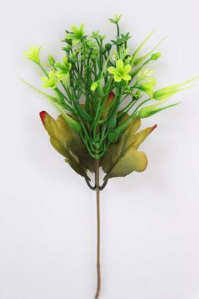 Yapay Çiçek Deposu - Yapay Küçük Ucuz Dal Garnitür Yeşil