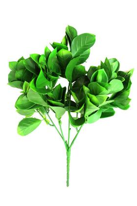 Yapay Çiçek Deposu - Yapay Küçük Dekor Bitkisi Kalın Yaprak Yeşil