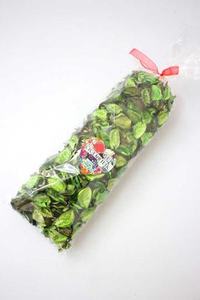 Yapay Çiçek Deposu - 400 Adet Kokulu Gerçek Gül Yaprağı Yeşil