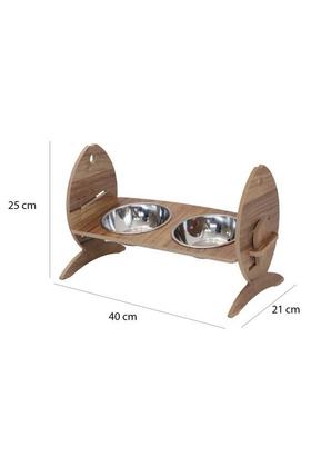 Balık Figürlü Kedi Mama ve Su Kabı 3 Kademe Yükseklik Ayarlı - Thumbnail