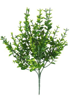 Yapay Çiçek Deposu - 5 Dal 15 Sürgünlü Plastik Okaliptus Demeti 35 cm