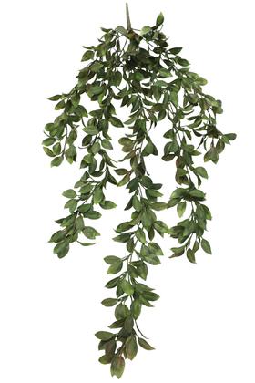 Yapay Çiçek Deposu - Yumuşak Dokulu Yapay Sarkan Defne Yaprağı 110 cm