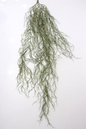 Yapay Çiçek Deposu - Yumuşak Dokulu Yapay Sarkan Yosun Dalı 110 cm Yeşil-Kahve