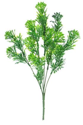 Yapay Çiçek Deposu - 5 Dal Plastik Tomurcuklu Yeşillik Demeti Yeşil